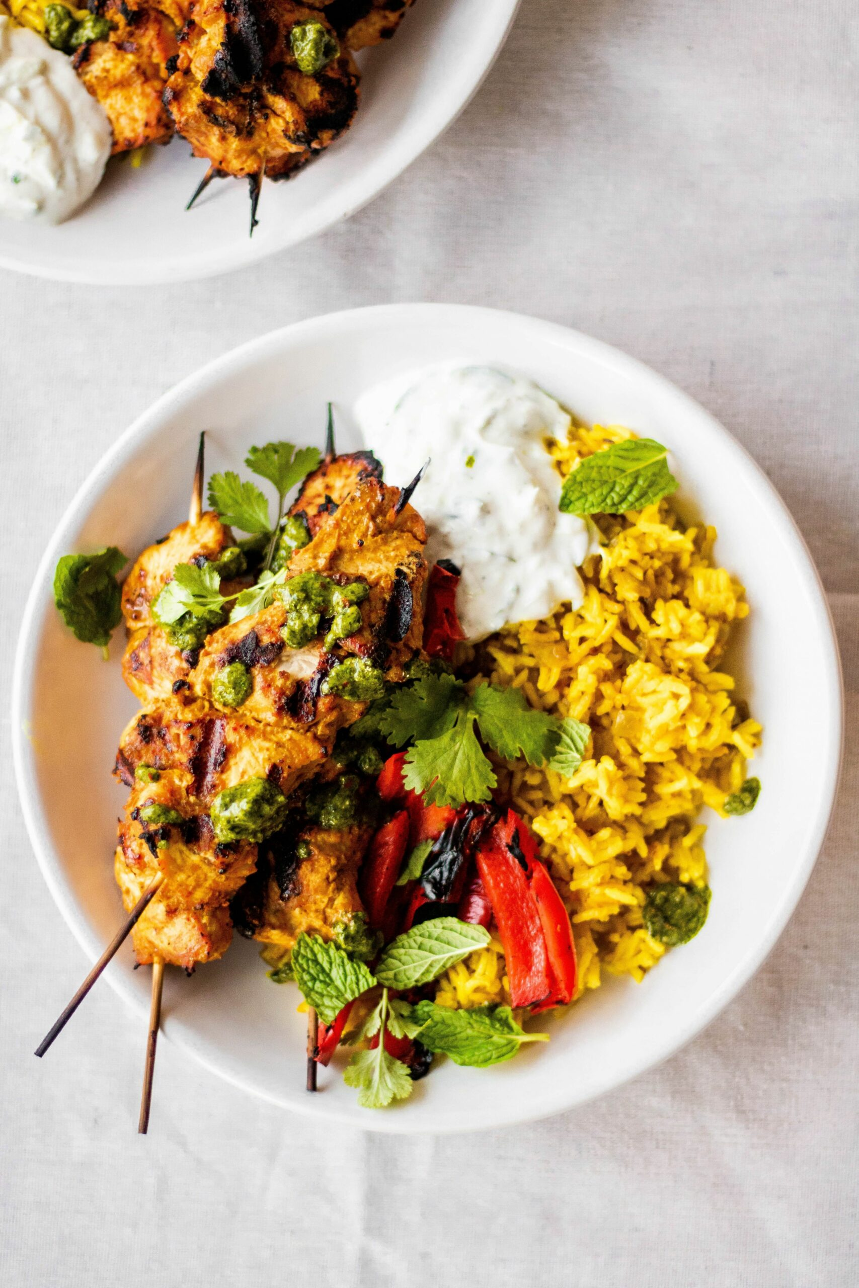 Spiced Chicken Skewers Over Rice - Recipes Over Rice