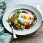 Spiced Onion Fritters With Poached Eggs – Healthy Recipes Delicious Magazine