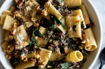 Spicy Paccheri with Sausage & Greens
