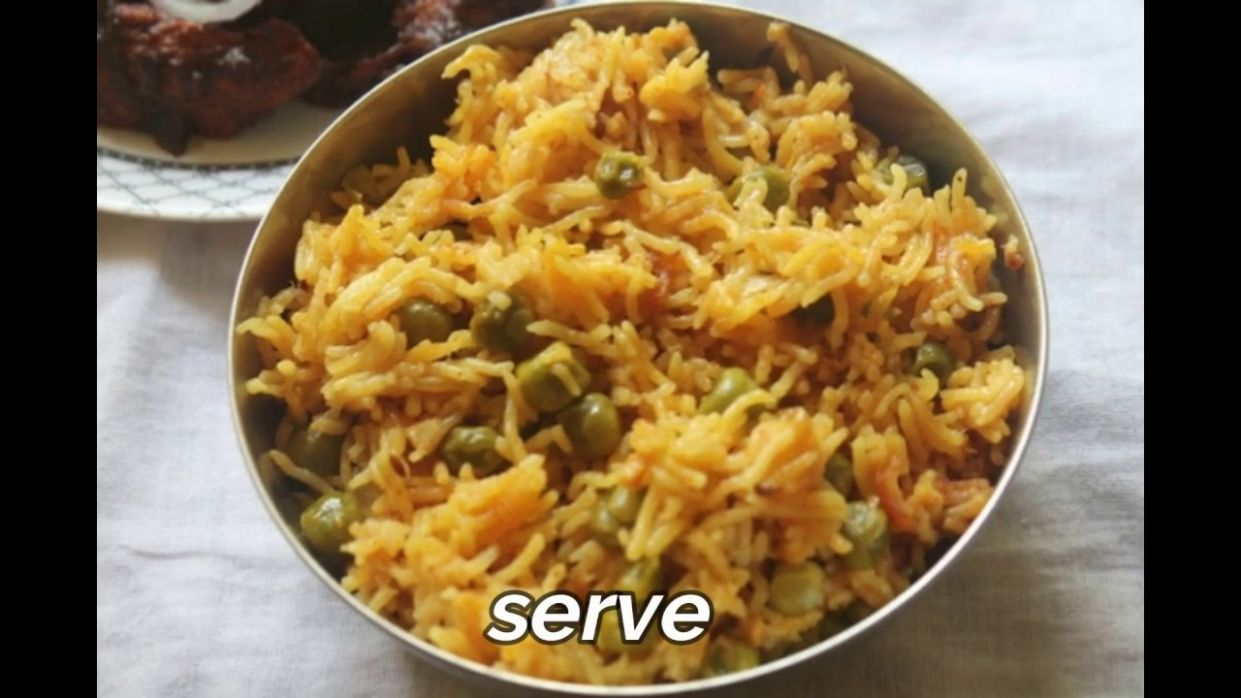 Spicy Peas Pulao Recipe - Yummy Tummy - Variety Rice Recipes Yummy Tummy