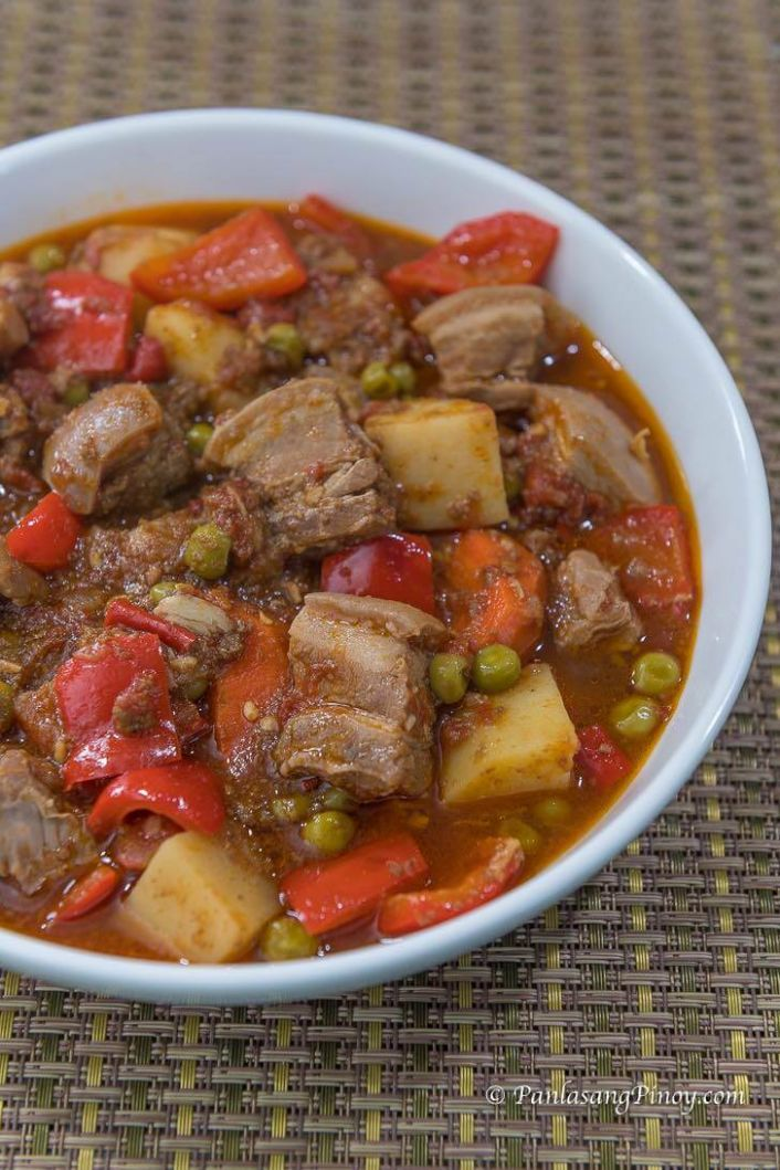 Spicy Pork Kaldereta Recipe - Recipe Pork Kaldereta