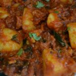 Spicy Potato Curry (Restaurant Style) – For Chappathi, Roti, Naan, Bread – Potato Recipes For Chapathi