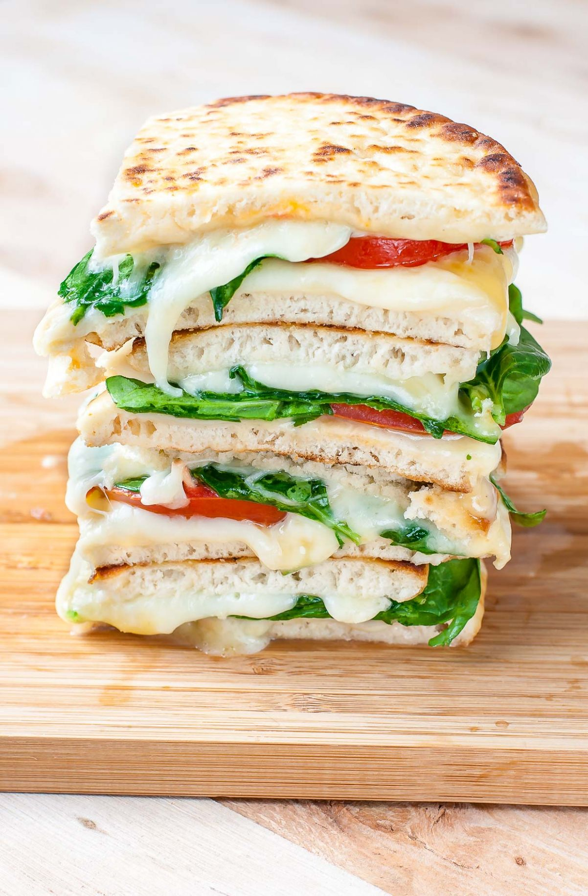 Spinach and Tomato Grilled Cheese Pitas - Sandwich Recipes Cheese
