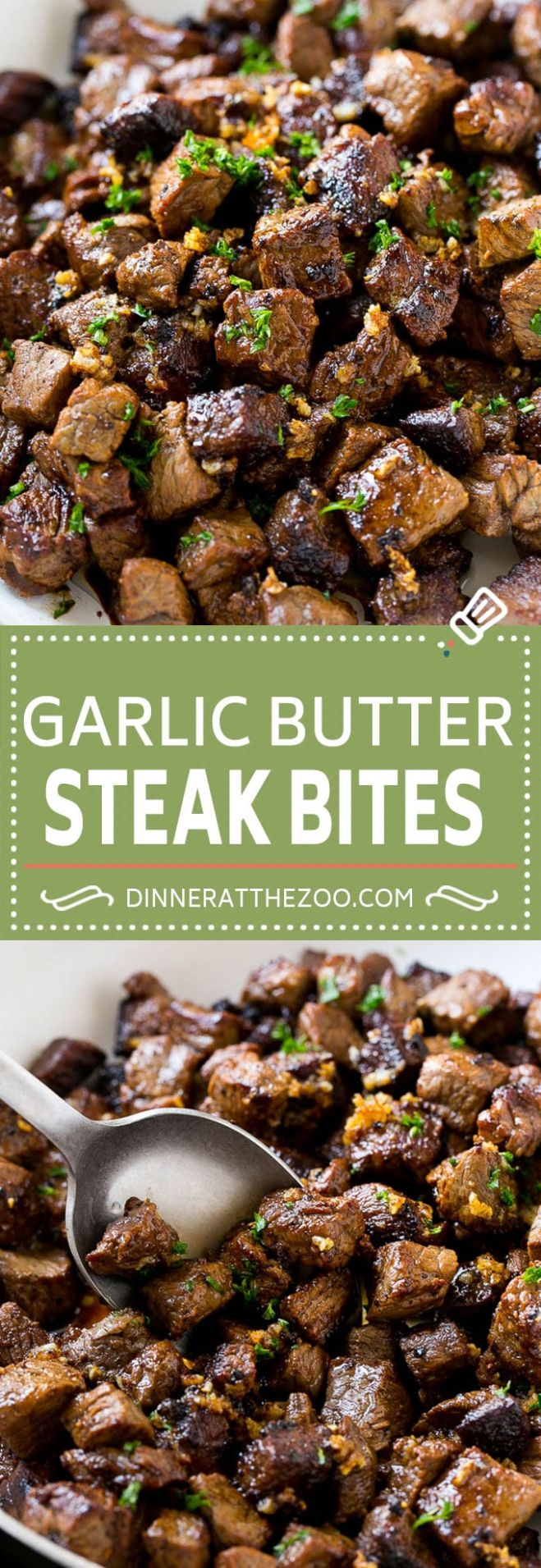 Steak Bites with Garlic Butter - Recipes With Beef Cubes