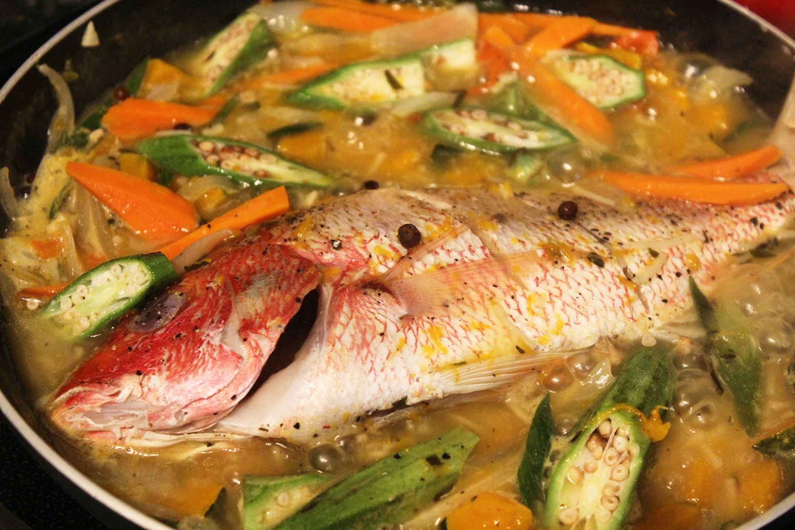 Steamed Fish with Okra - Fish Recipes Jamaican