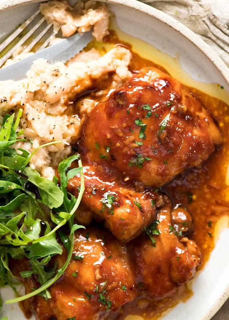 Sticky Baked Chicken Thighs - Recipes Chicken Pieces