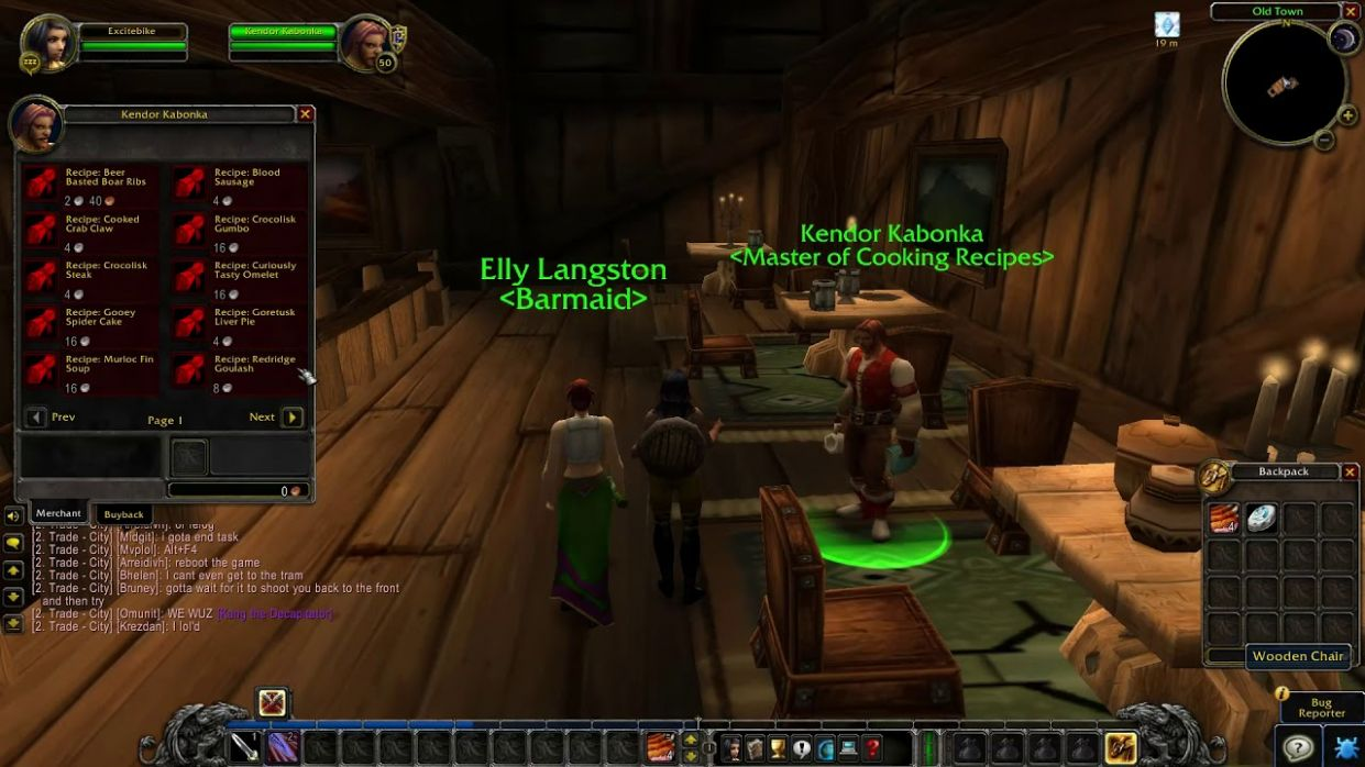 Stormwind Master of Cooking Recipes location - WoW Classic - Recipes Cooking Wow