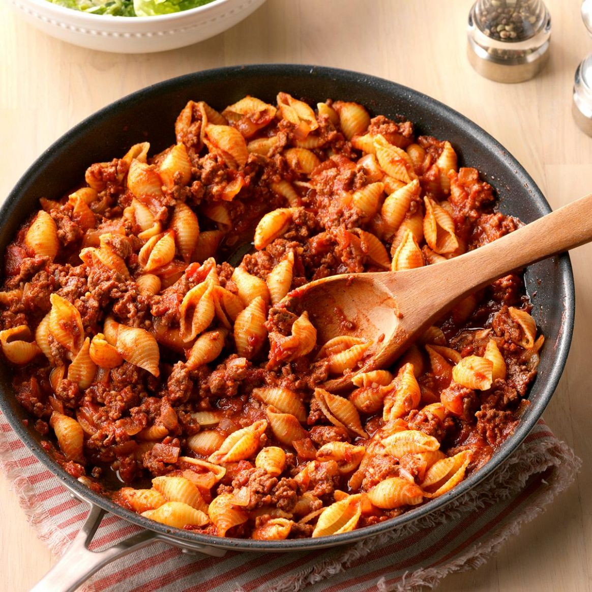 Stovetop Beef and Shells - Dinner Recipes Without Dairy