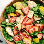 Strawberry, Apple, And Pear Spinach Salad With An Apple Cider Poppyseed  Dressing – Salad Recipes Apple