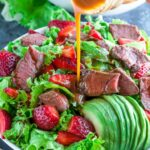 Strawberry Steak Salad With Homemade Balsamic Dressing – Salad Recipes To Go With Steak