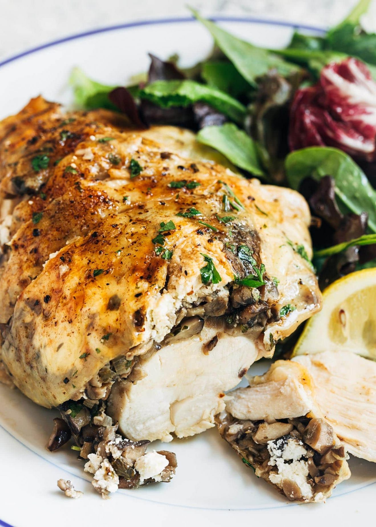 Stuffed Chicken Breasts with Mushrooms & Goat Cheese - Recipe Chicken Breast Goat Cheese