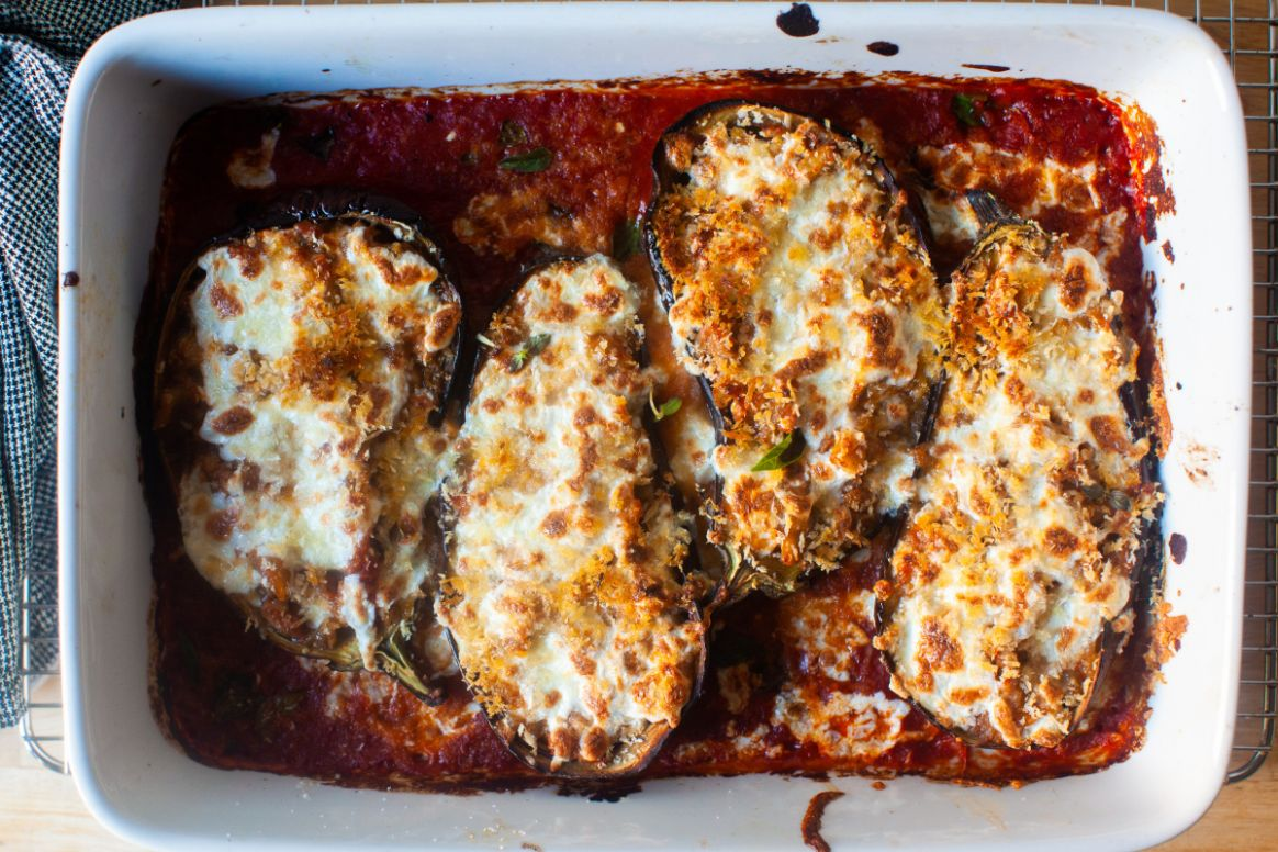 Stuffed Eggplant Parmesan - Easy Recipes Eggplant Parmesan