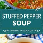 Stuffed Pepper Soup – Dinner At The Zoo – Recipes Soup Peppers