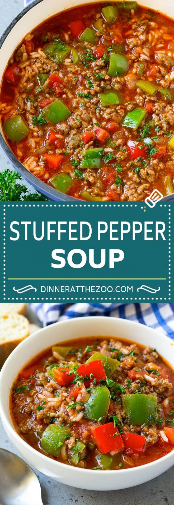 Stuffed Pepper Soup - Dinner at the Zoo - Recipes Soup Peppers