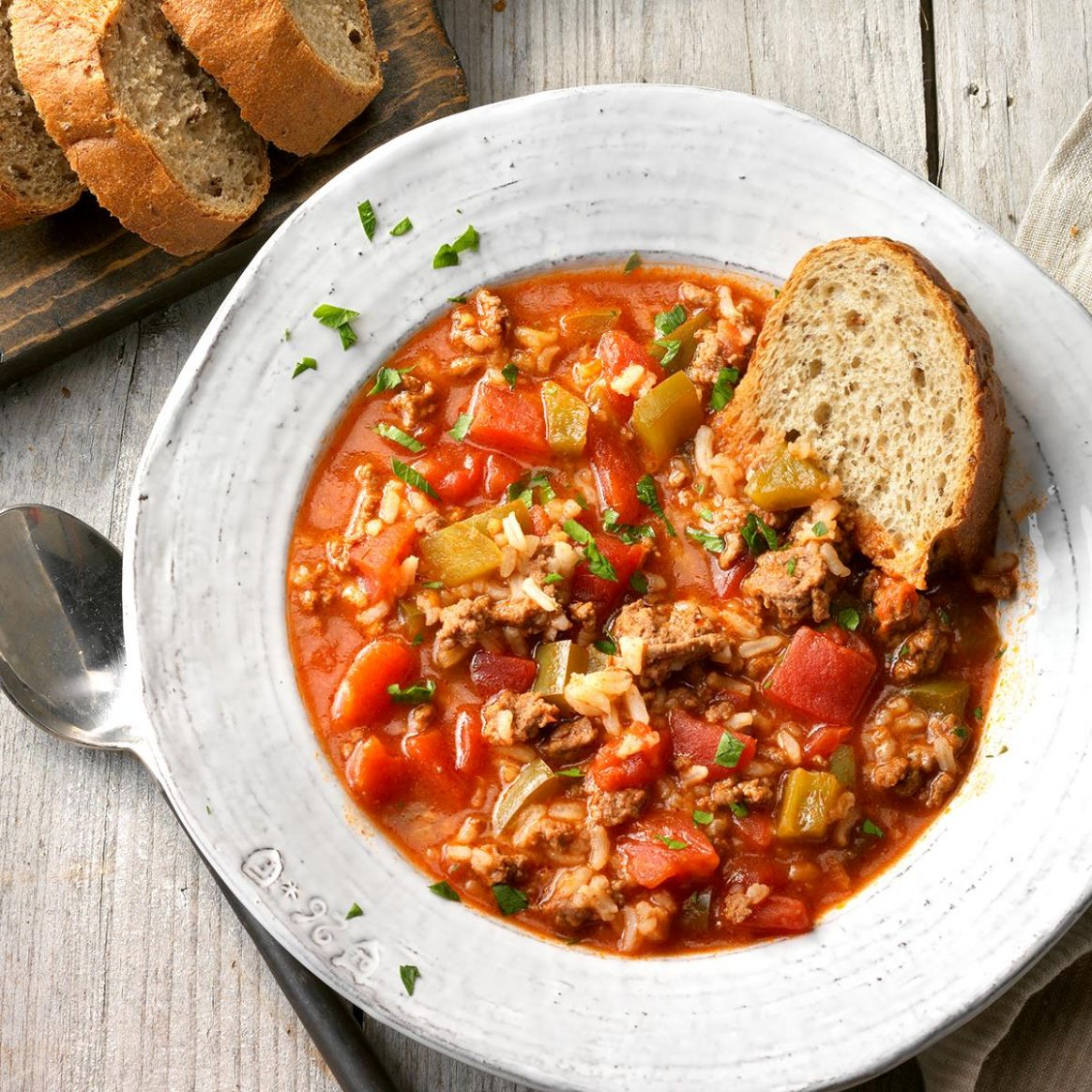 Stuffed Pepper Soup - Recipes Soup Peppers