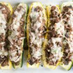 Stuffed Summer Squash Boats With Beef, Shiitake Mushrooms & Swiss Cheese – Recipes With Ground Beef Zucchini And Squash