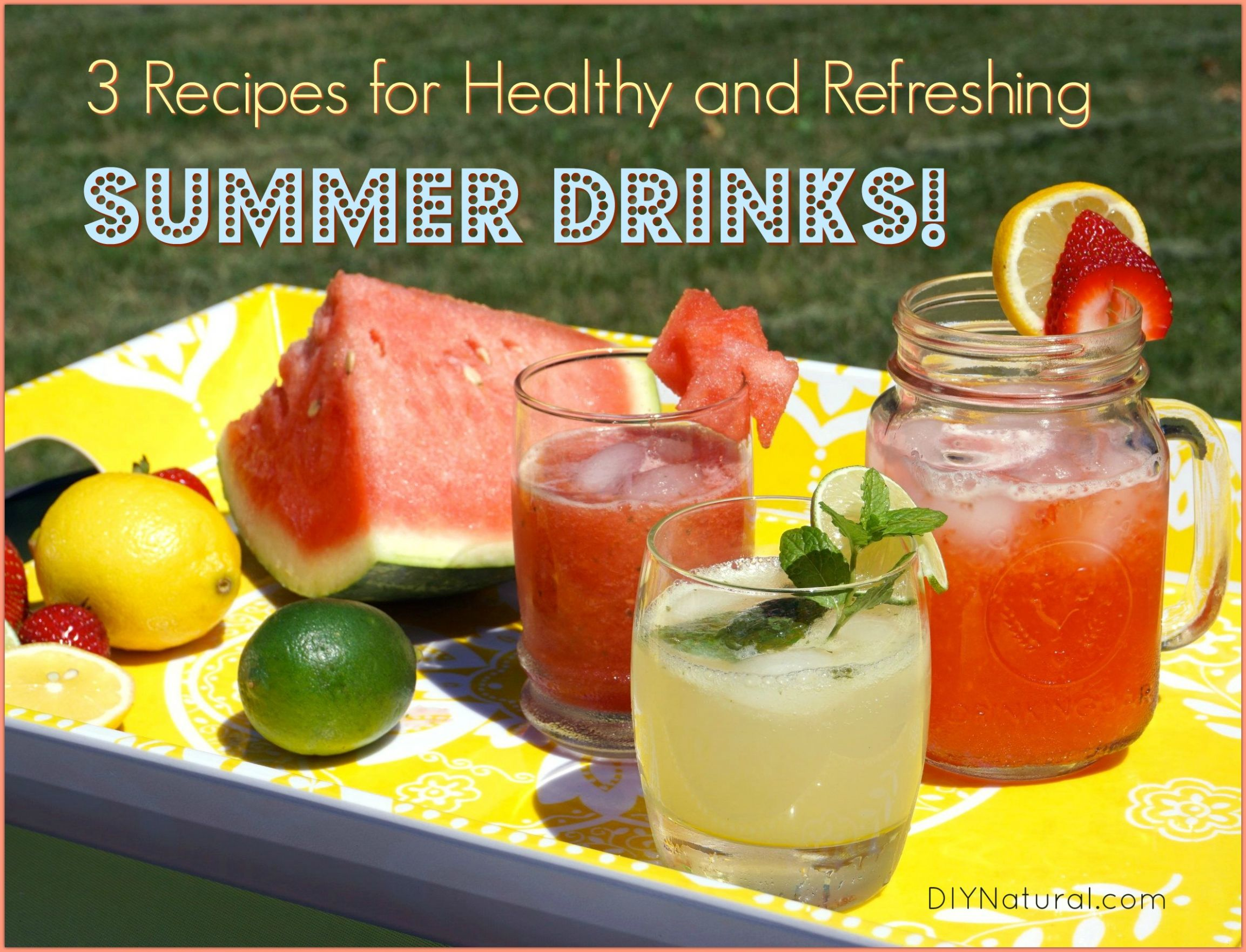 Summer Drinks: 11 Healthy, Refreshing Summer Drink Recipes - Healthy Recipes Drinks