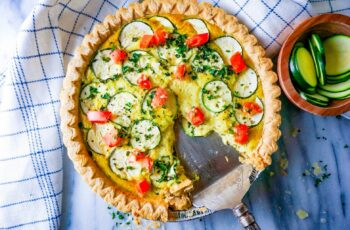 Summer Garden Pesto Quiche