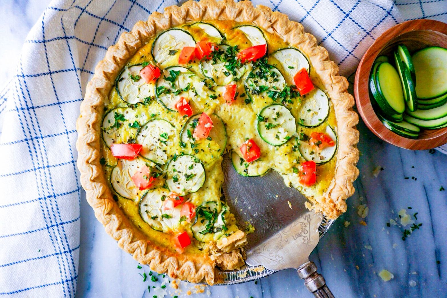 Summer Garden Pesto Quiche - Recipes For Summer Quiches