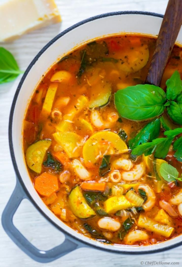 Summer Minestrone Soup Recipe,indian Cuisine,Soups - Soup Recipes Summer