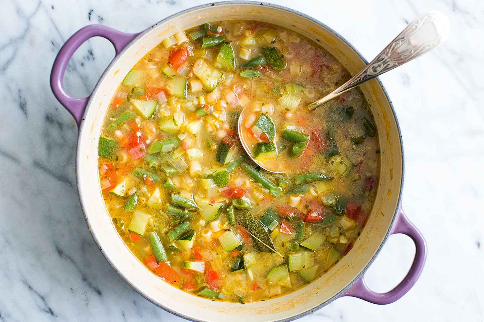 Summer Minestrone Soup - Soup Recipes Summer