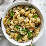 Summer Squash Pasta Skillet with Brown Butter and Goat Cheese