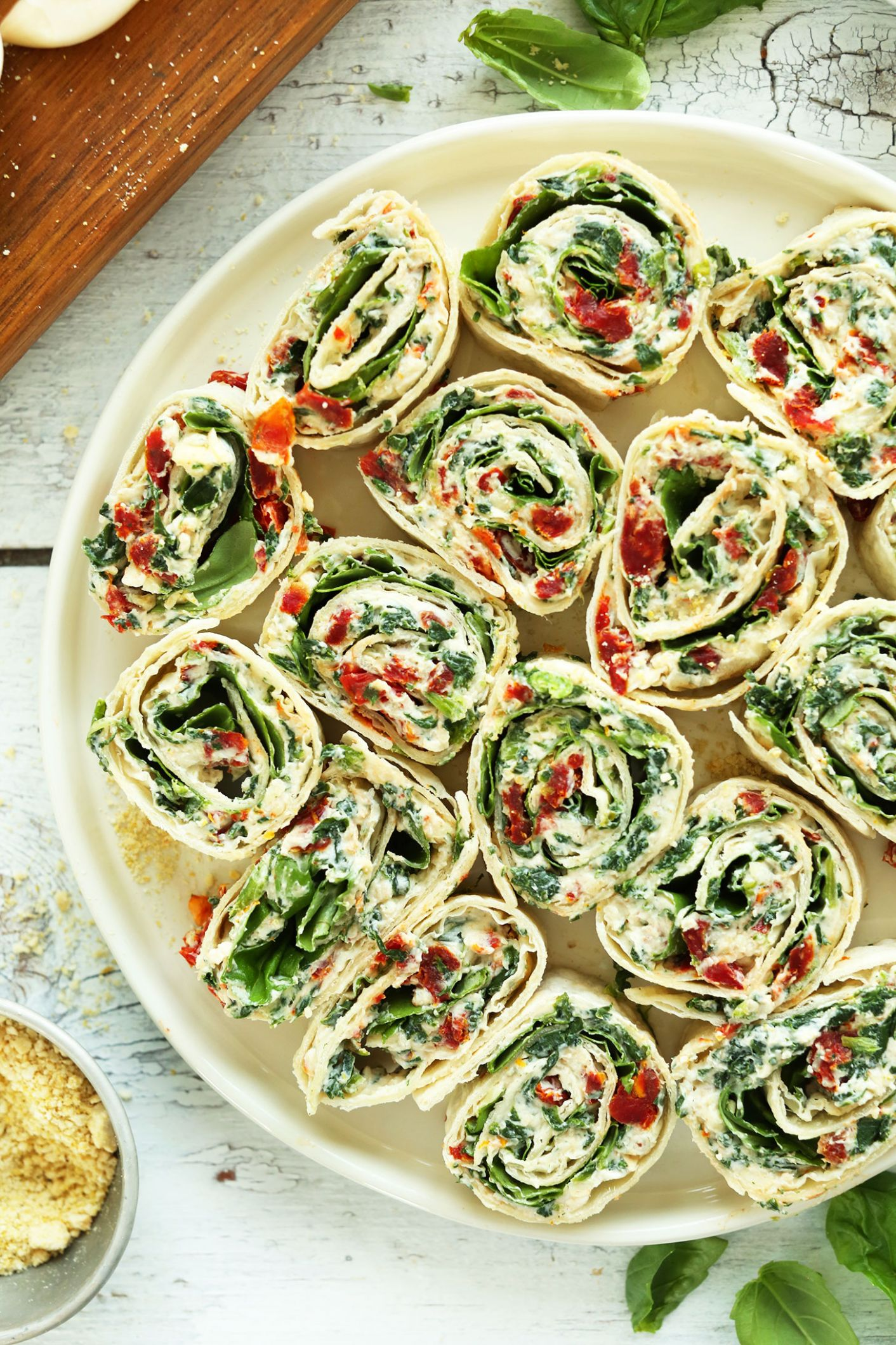 Sun-Dried Tomato and Basil Pinwheels
