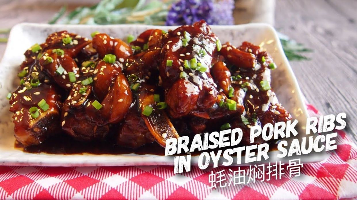 SUPER EASY Braised Pork Ribs in Oyster Sauce 蚝油焖排骨 | Braised pork - Recipe Pork Oyster Sauce