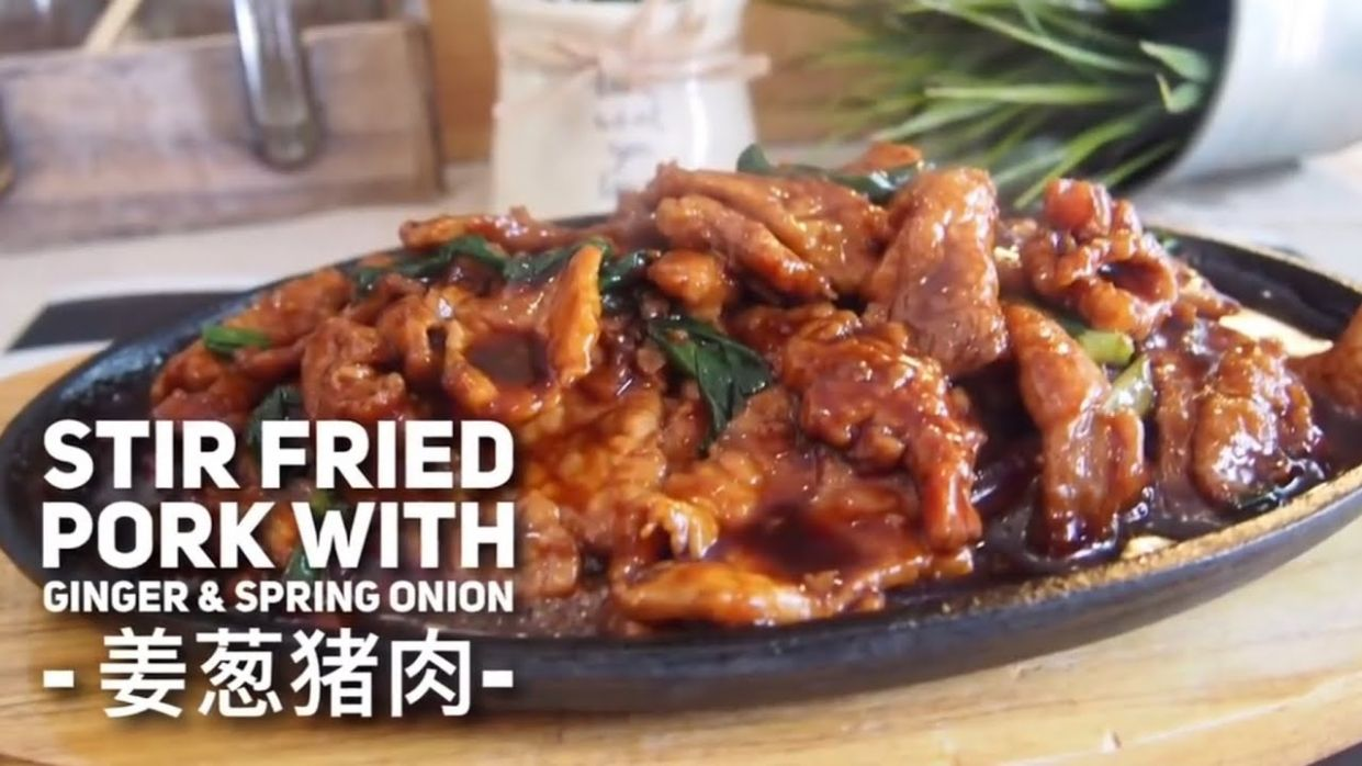 Super Easy Chinese Stir Fry Pork w/ Ginger & Spring Onion Recipe 姜葱猪肉  Chinese Pork Recipe - Recipes Pork Fillet Stir Fry