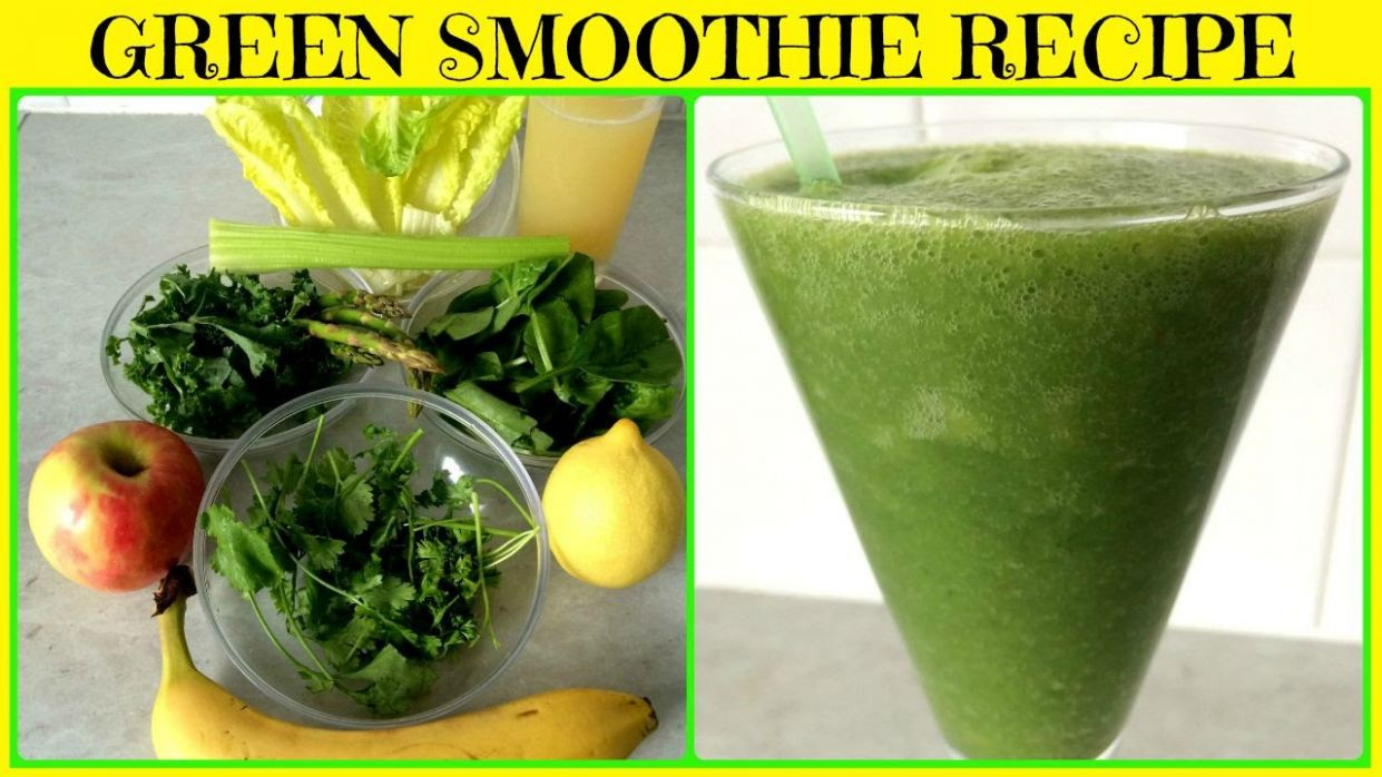 Super Green Smoothie for Glowing Skin, Weight Loss & Detox - Smoothie Recipes For Weight Loss Youtube