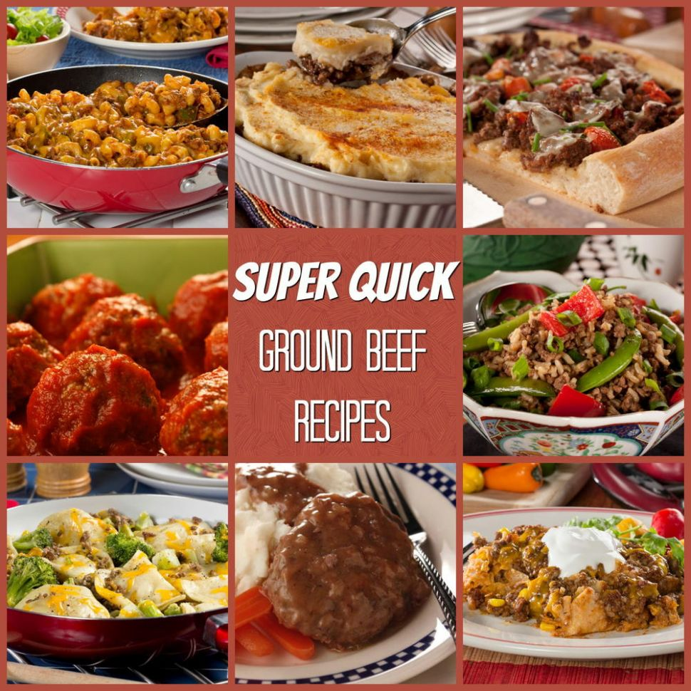 Super Quick Ground Beef Recipes | MrFood