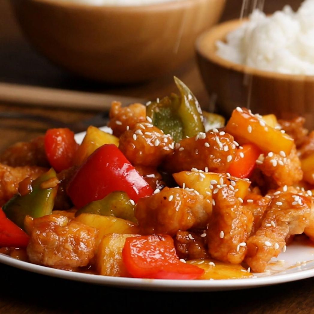 Sweet And Sour Pork Recipe by Tasty - Recipe Pork Diced