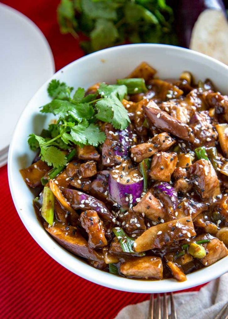 Szechuan Eggplant and Pork Stir Fry - Kevin Is Cooking