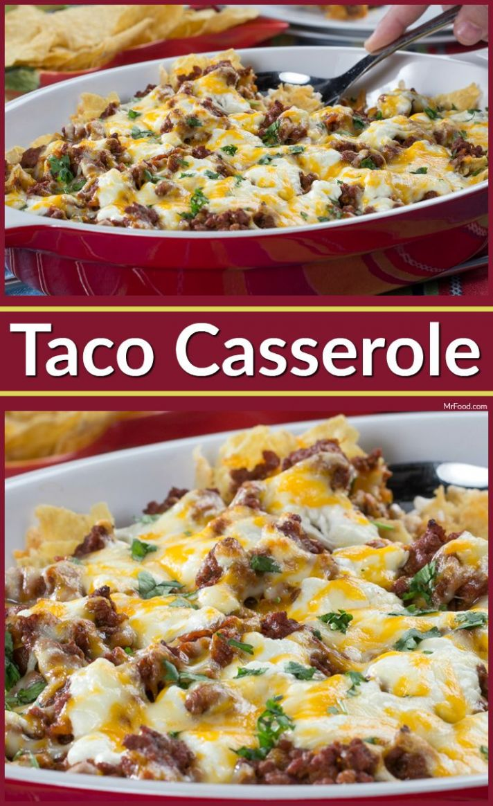 Taco Casserole - Dinner Recipes With Ground Beef