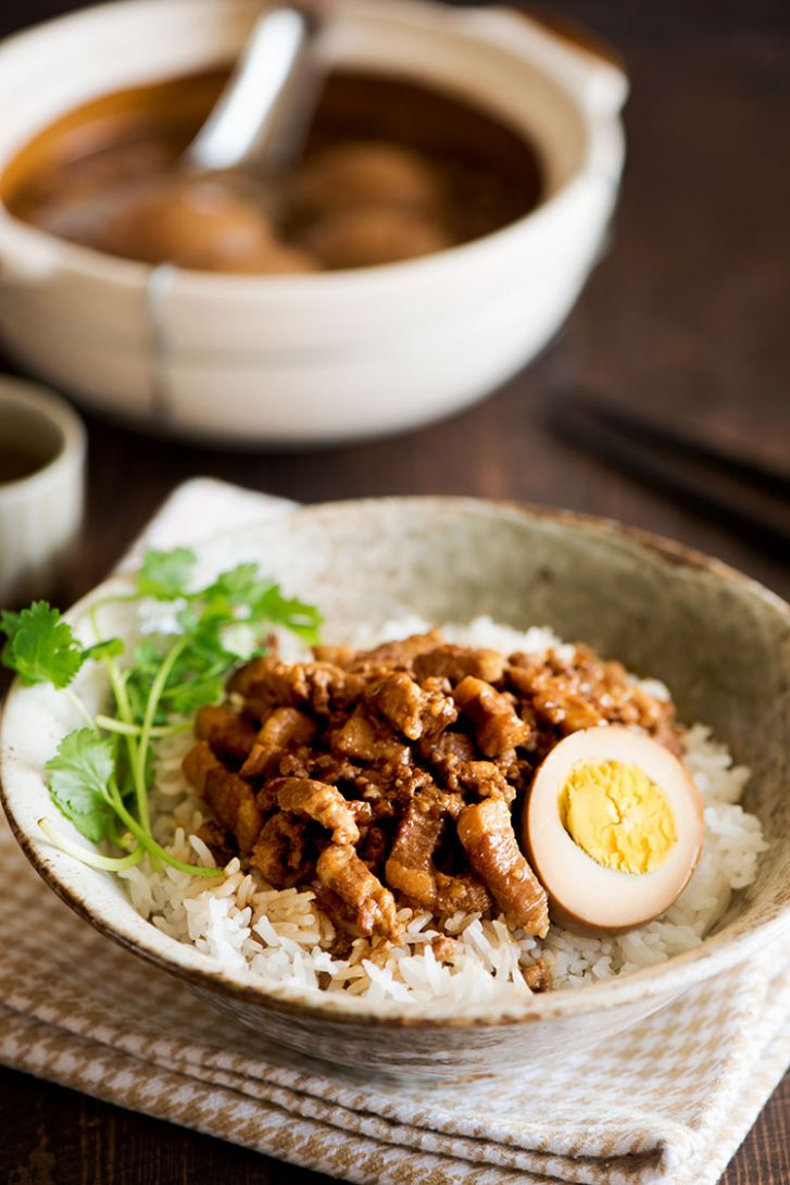Taiwanese Braised Pork Over Rice (Lu Rou Fan) - Recipes Over Rice