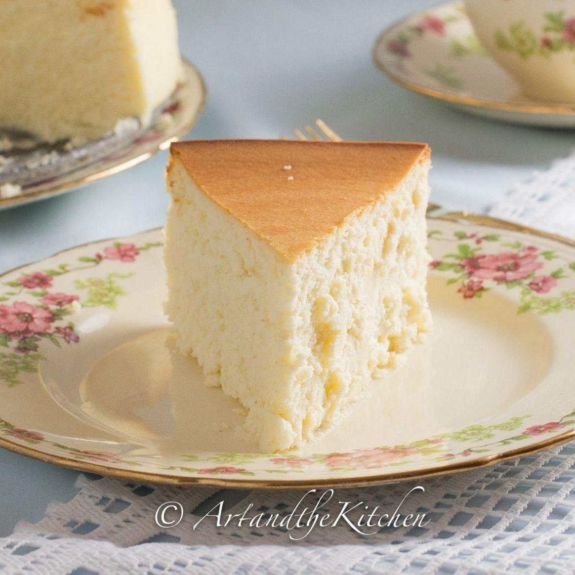 Tall and Creamy New York Cheesecake - Simple Recipes New York Cheesecake
