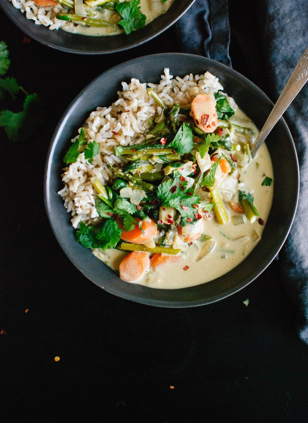 Thai Green Curry with Spring Vegetables - Cookie and Kate - Recipe Vegetarian Thai Green Curry