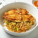 Thai Spiced Whiting With A Noodle And Cabbage Stir Fry – Recipe Fish Noodles