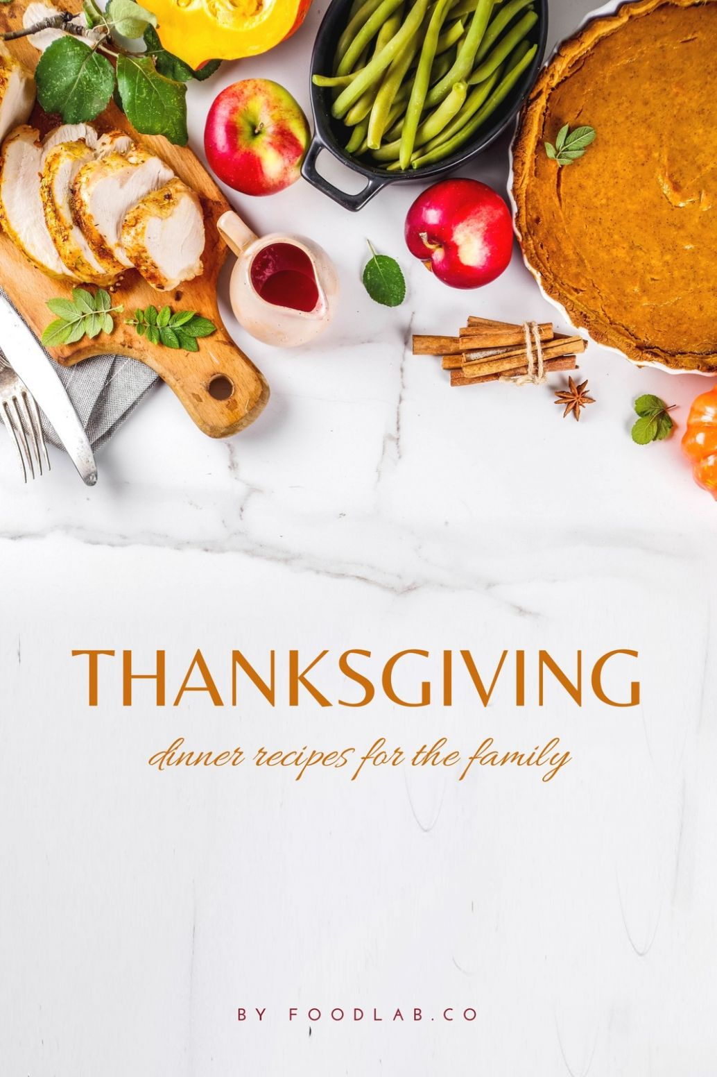 Thanksgiving Dinner Recipes Blog Graphic - Templates by Canva - Dinner Recipes Blog