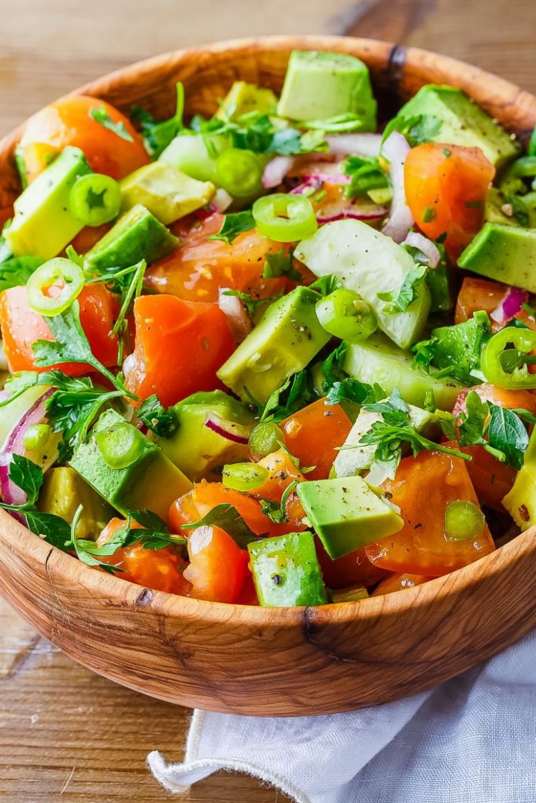 The Best Avocado, Tomato and Cucumber Salad Ever - Recipes Salad With Avocado And Tomato