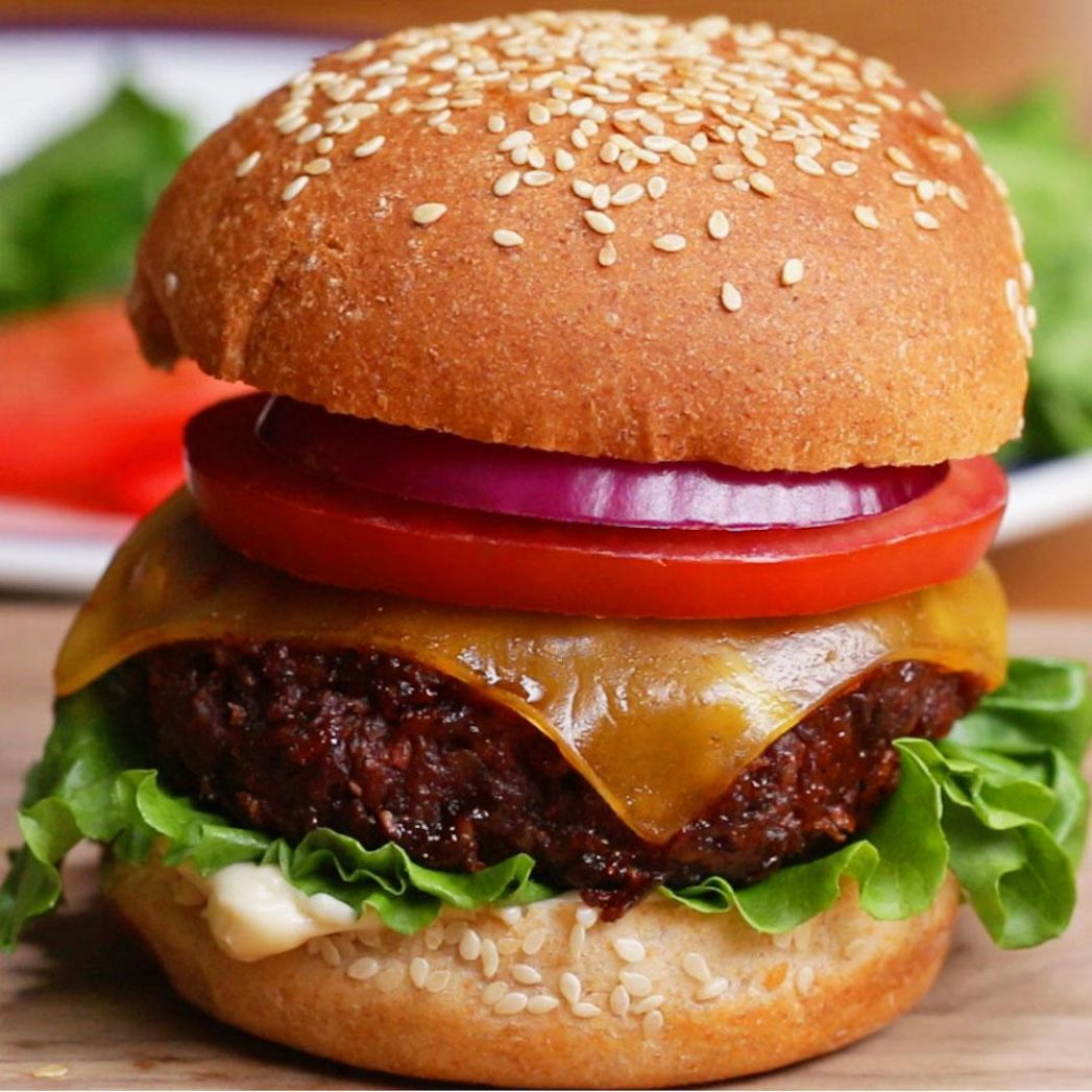 The Best Ever Vegan Burger Recipe by Tasty - Recipes Vegetarian Patties