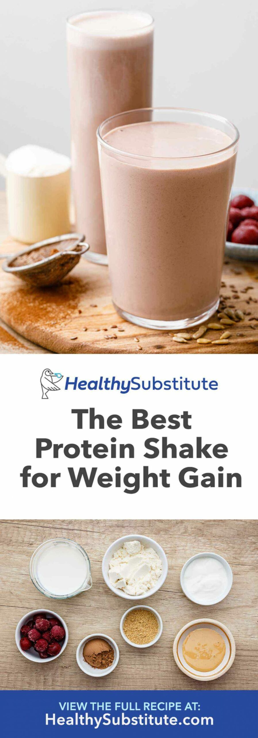 The Best Protein Shake Recipe for Weight Gain (Drink This ..