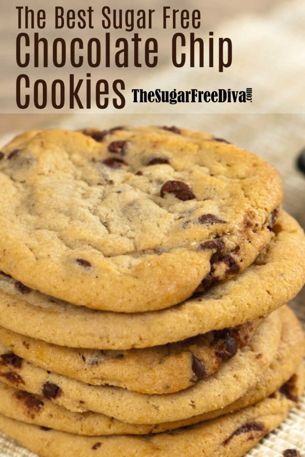 The Best Sugar Free Chocolate Chip Cookies Recipe - Dessert Recipes For Diabetics Sugar Free