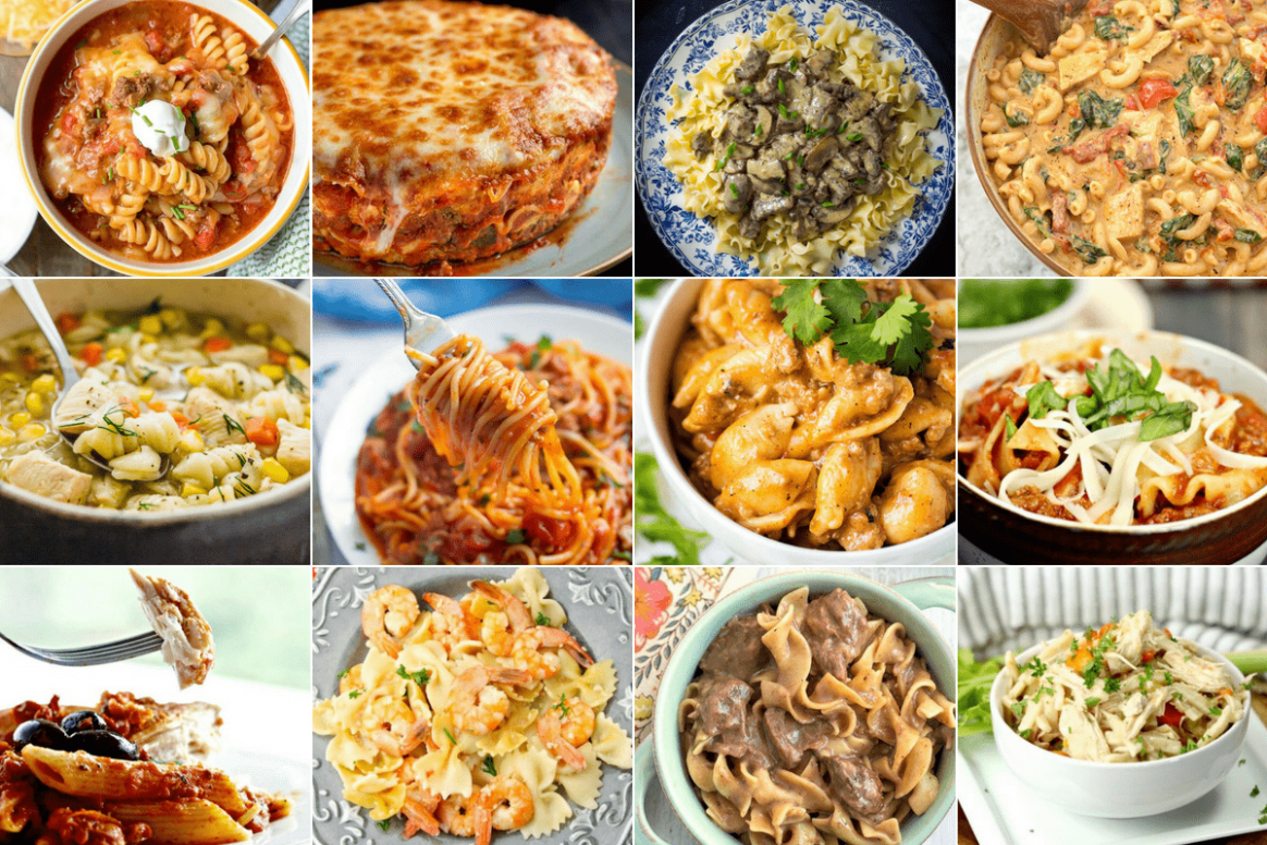 The Big List of Instant Pot Pasta Recipes - One Happy Housewife - Pasta Recipes List