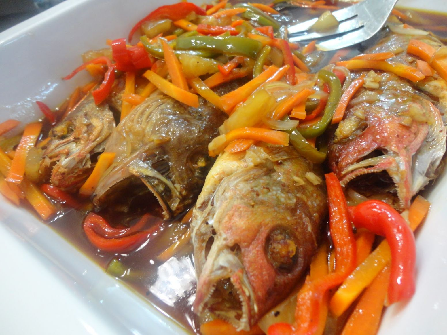 THE DENTIST IS IN THE KITCHEN: FISH ESCABECHE with a hint of PINEAPPLE - Recipe Fish Escabeche
