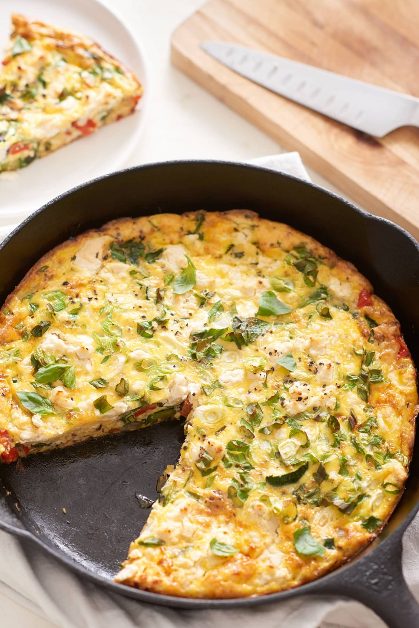 The Easiest Cheese and Vegetable Frittata - Vegetable Frittata Recipe