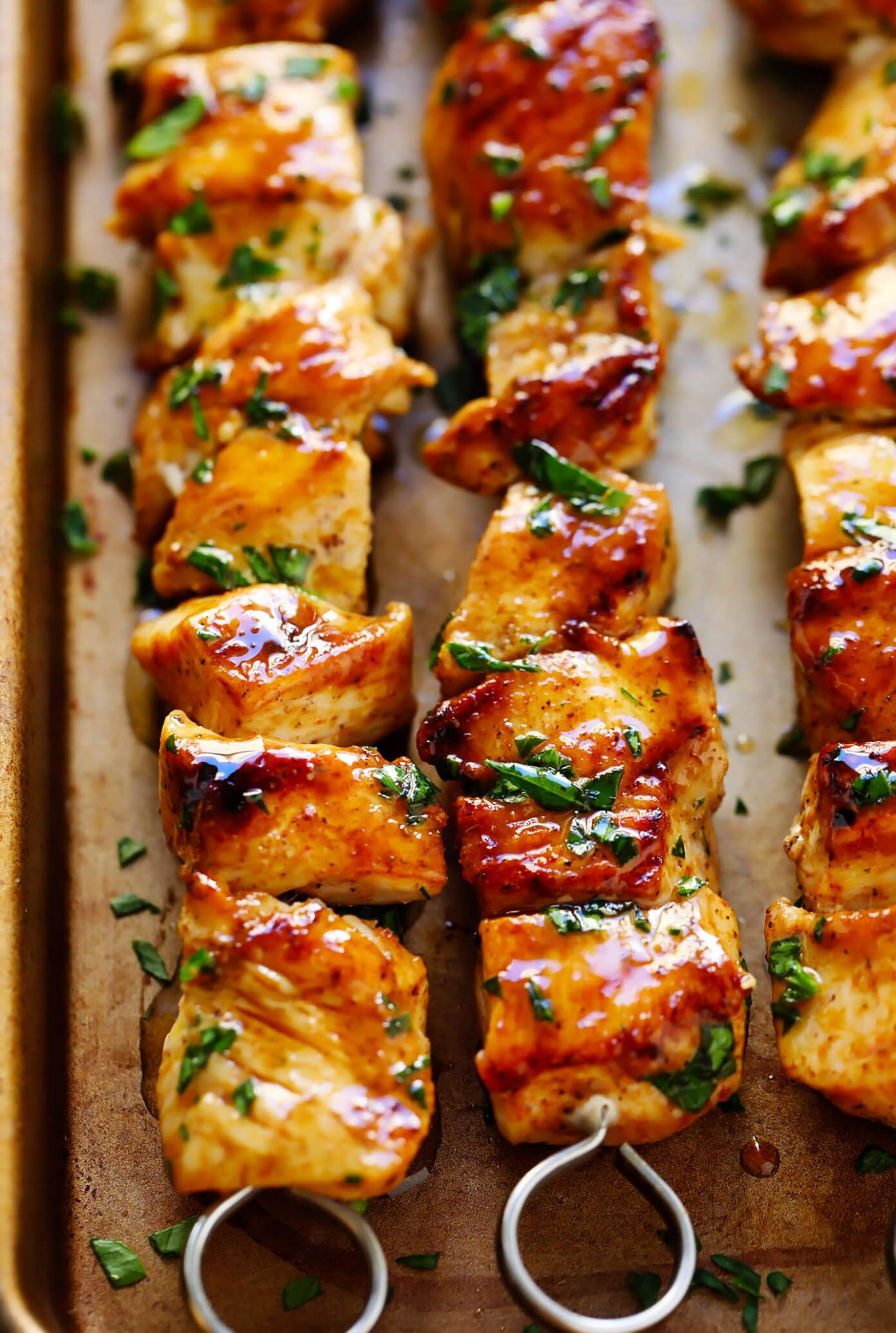 The Juiciest Grilled Chicken Kabobs | Gimme Some Oven - Recipes Chicken Kabobs