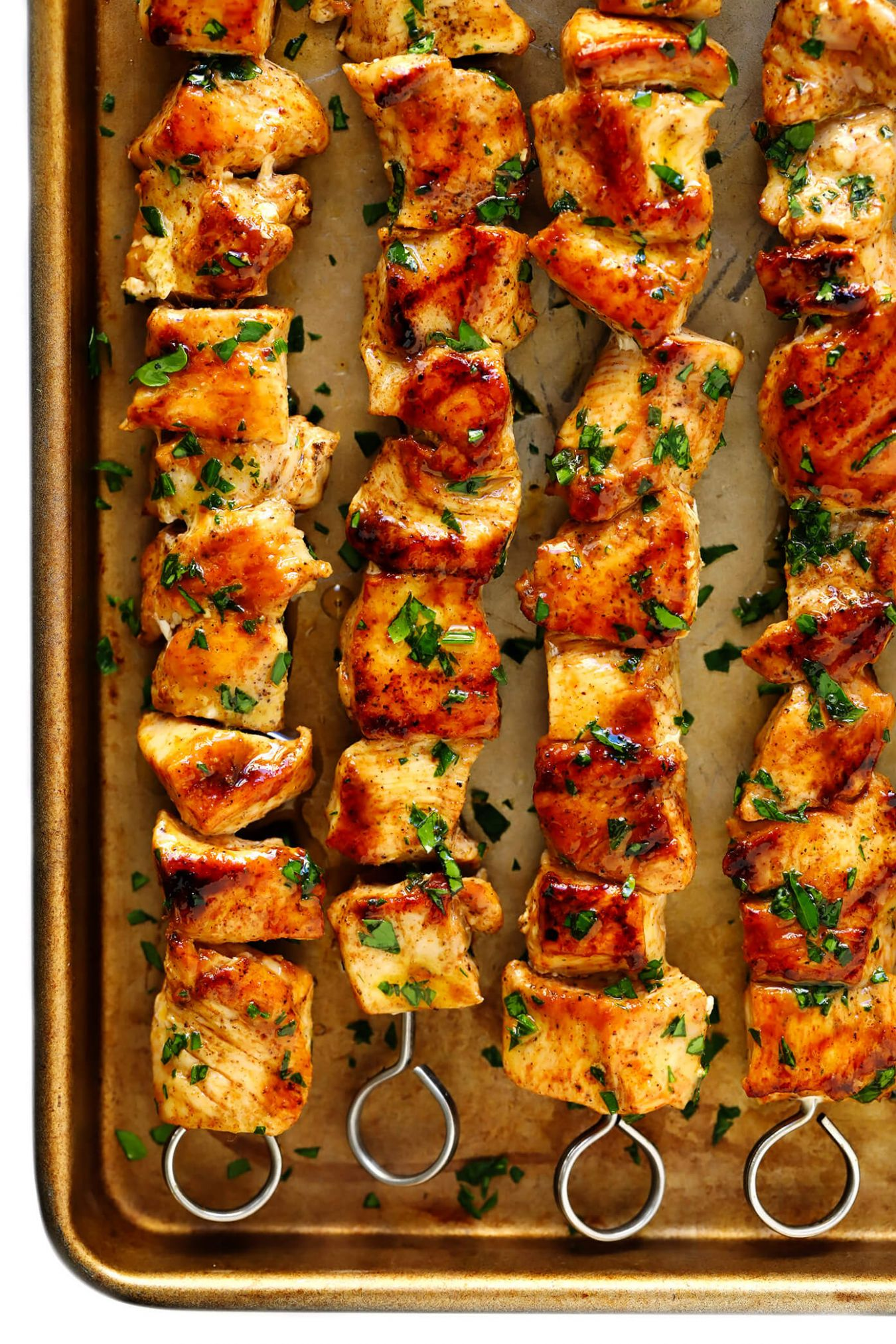 The Juiciest Grilled Chicken Kabobs - Simple Recipes Chicken