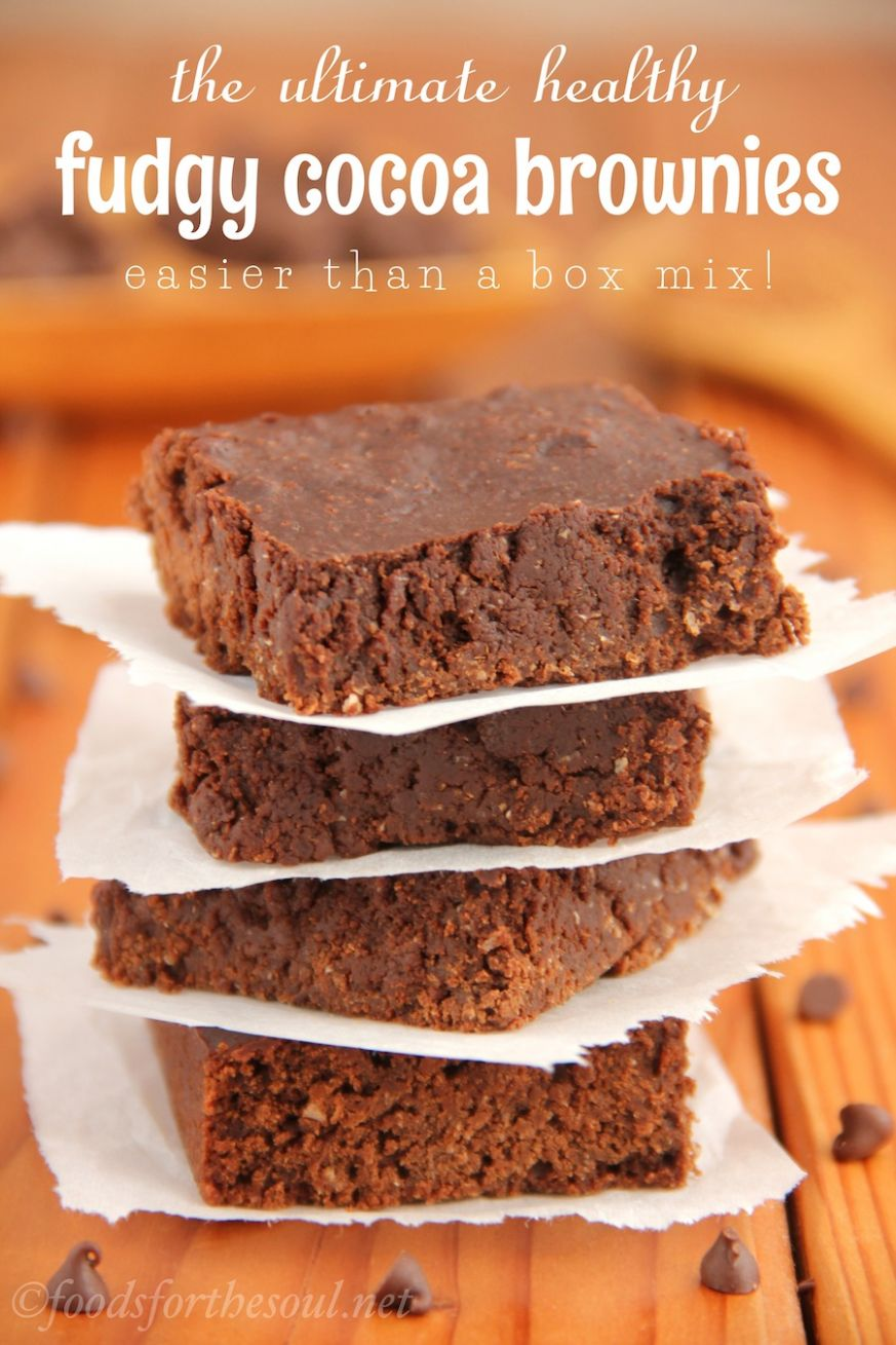 The Ultimate Healthy Fudgy Cocoa Brownies - Easy Recipes Cocoa Powder
