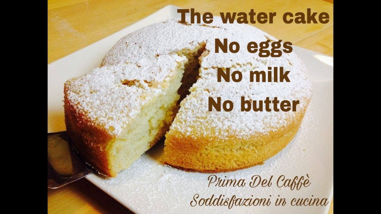 """THE """"WATER CAKE"""" English recipe, no eggs, no milk, no butter 🇬🇧 - Cake Recipes Without Eggs"""
